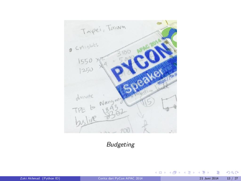 Budgeting Zaki Akhmad (Python ID) Cerita dari P...