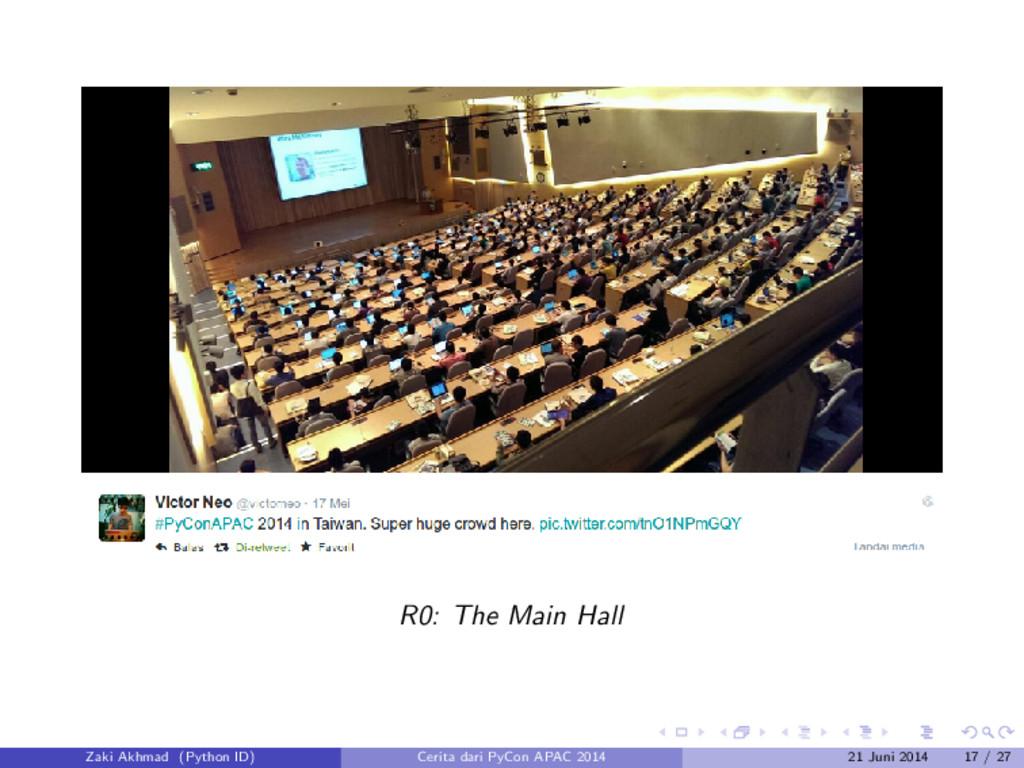 R0: The Main Hall Zaki Akhmad (Python ID) Cerit...