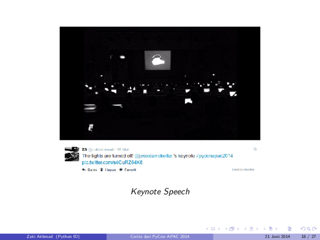 Keynote Speech Zaki Akhmad (Python ID) Cerita d...