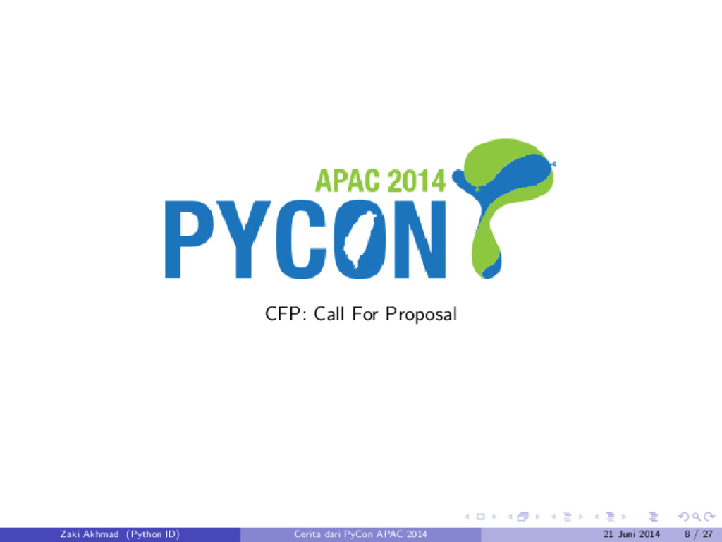 CFP: Call For Proposal Zaki Akhmad (Python ID) ...