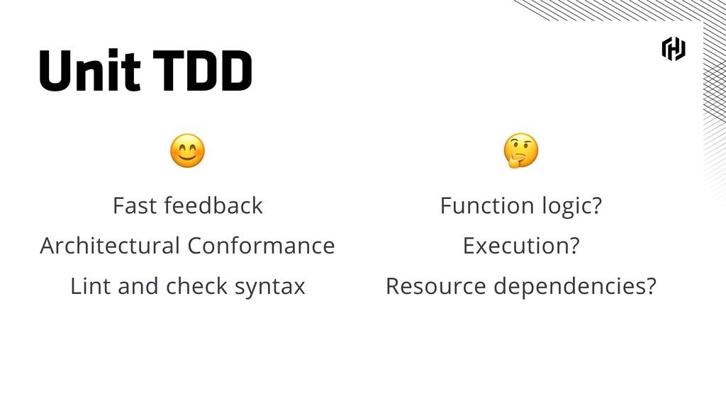 Unit TDD  Function logic? Execution? Resource d...
