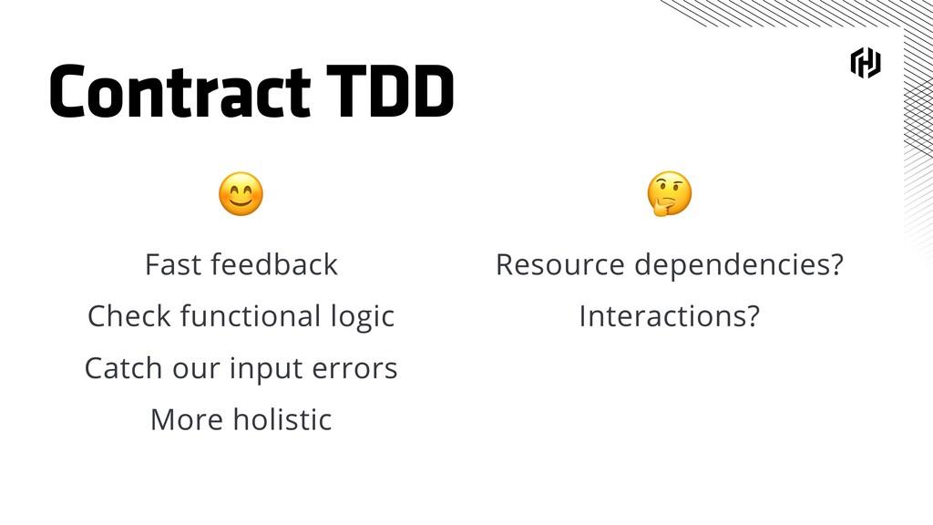 Contract TDD  Resource dependencies? Interactio...