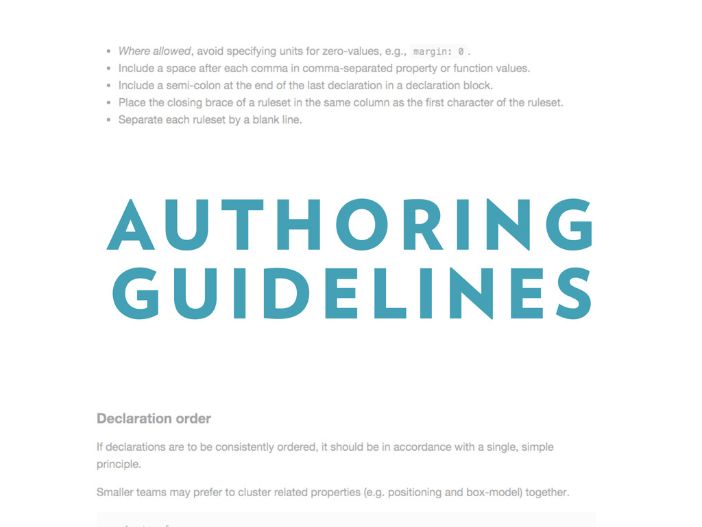AUTHORING GUIDELINES