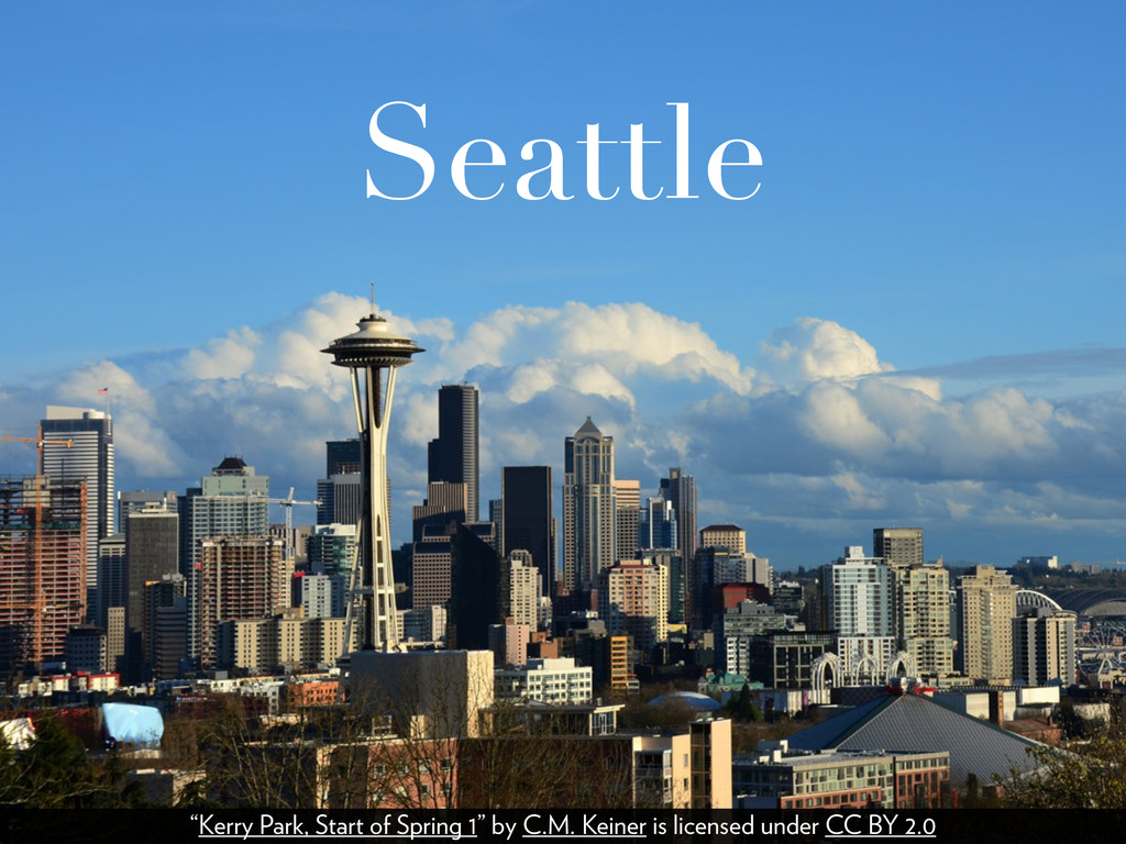 "Seattle ""Kerry Park, Start of Spring 1"" by C.M...."