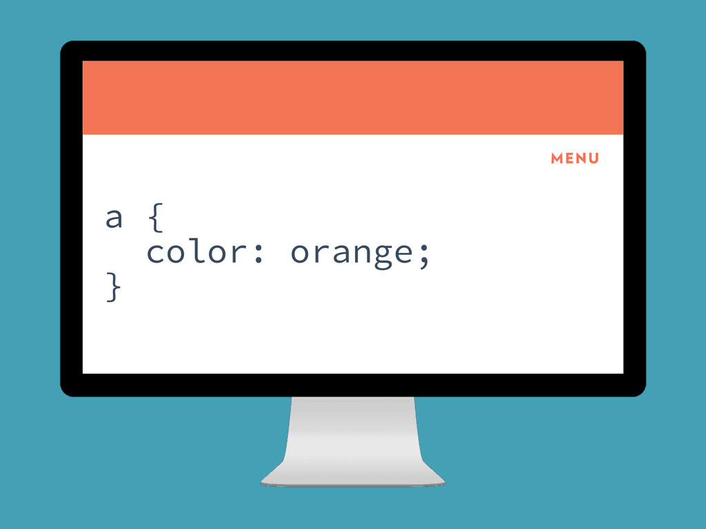 CoolCorp MENU a { color: orange; }