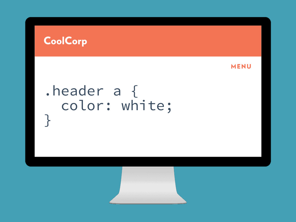 CoolCorp MENU .header a { color: white; }