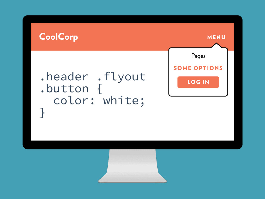 CoolCorp MENU SOME OPTIONS Pages LOG IN .header...