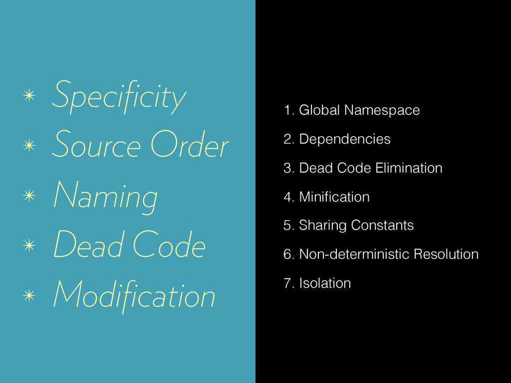 ✴ Specificity ✴ Source Order ✴ Naming ✴ Dead Cod...