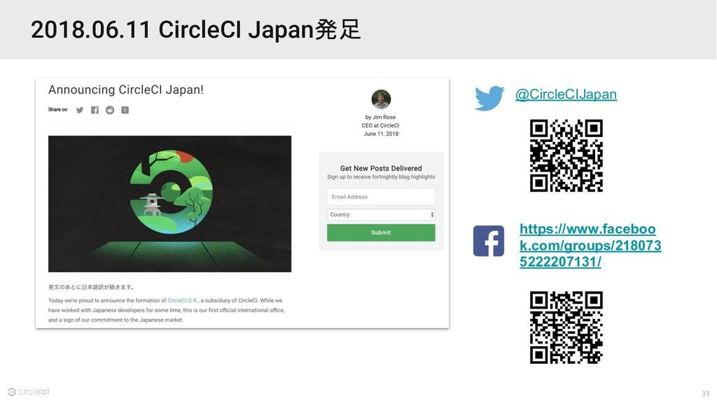 33 2018.06.11 CircleCI Japan発足 @CircleCIJapan h...