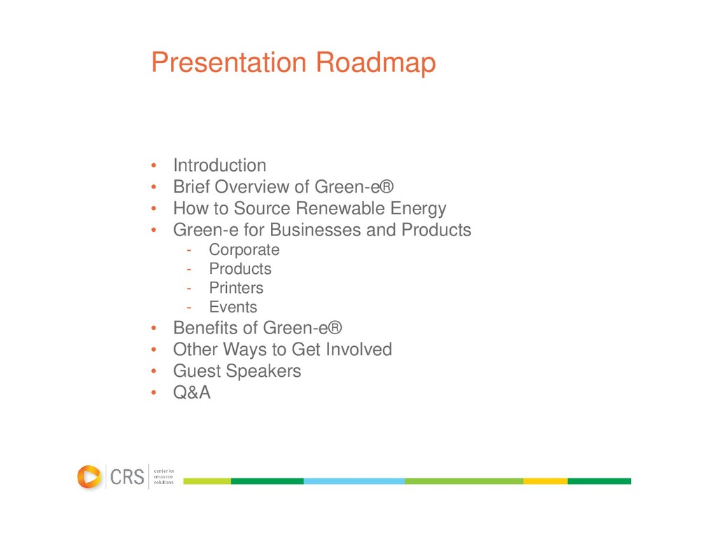 Presentation Roadmap • Introduction • Brief Ove...
