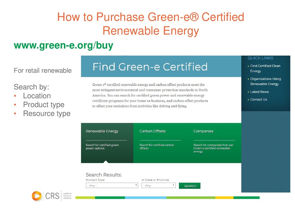 How to Purchase Green-e® Certified Renewable En...