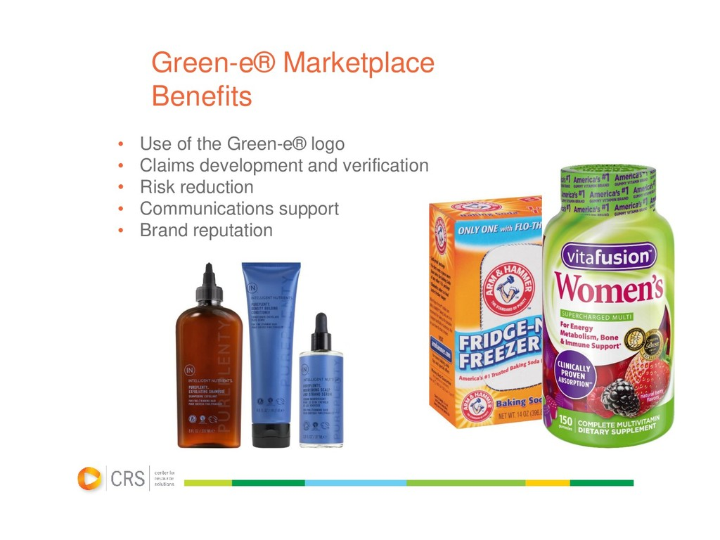 Green-e® Marketplace Benefits • Use of the Gree...