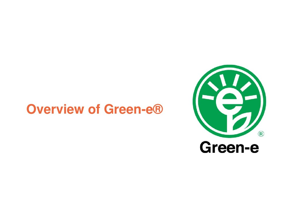 Overview of Green-e®