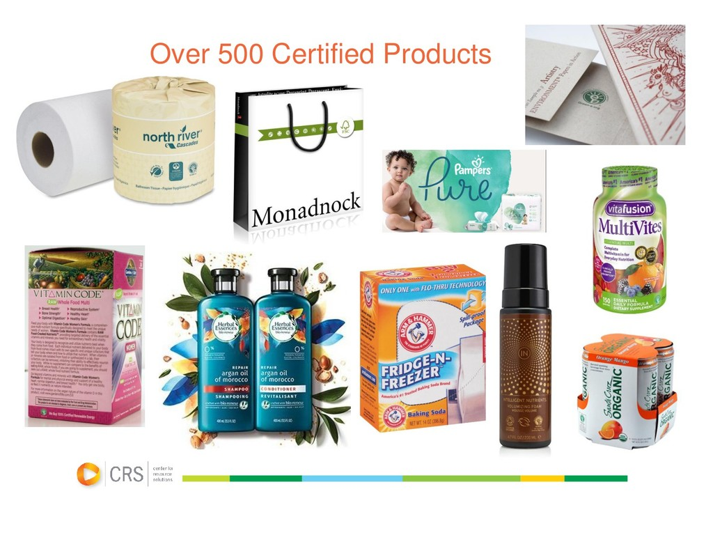 Over 500 Certified Products