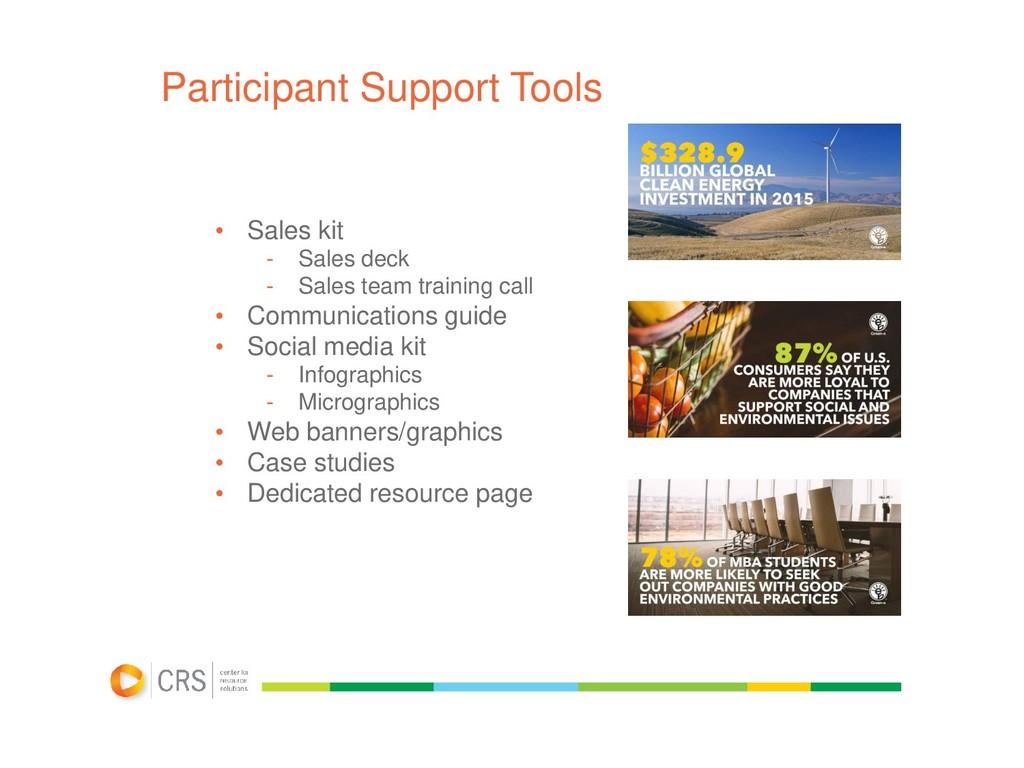 Participant Support Tools • Sales kit - Sales d...