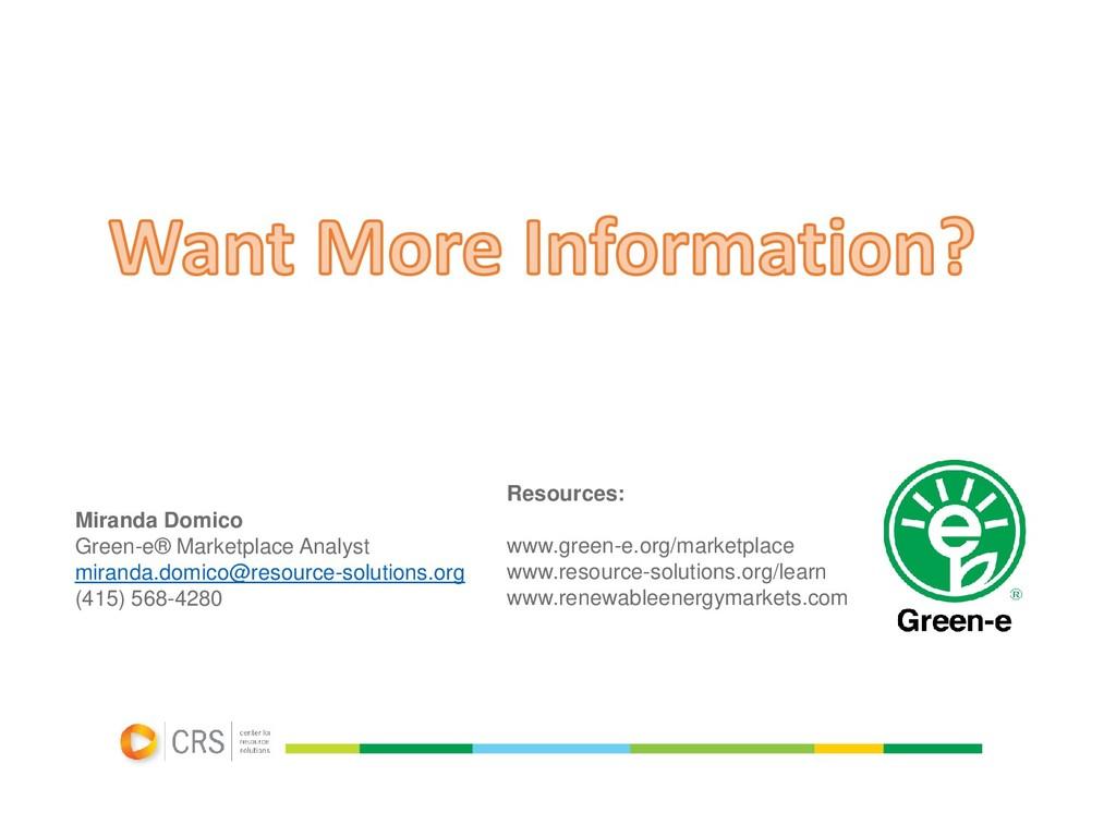Miranda Domico Green-e® Marketplace Analyst mir...