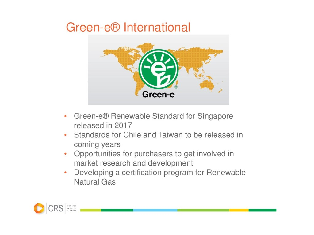 Green-e® International • Green-e® Renewable Sta...