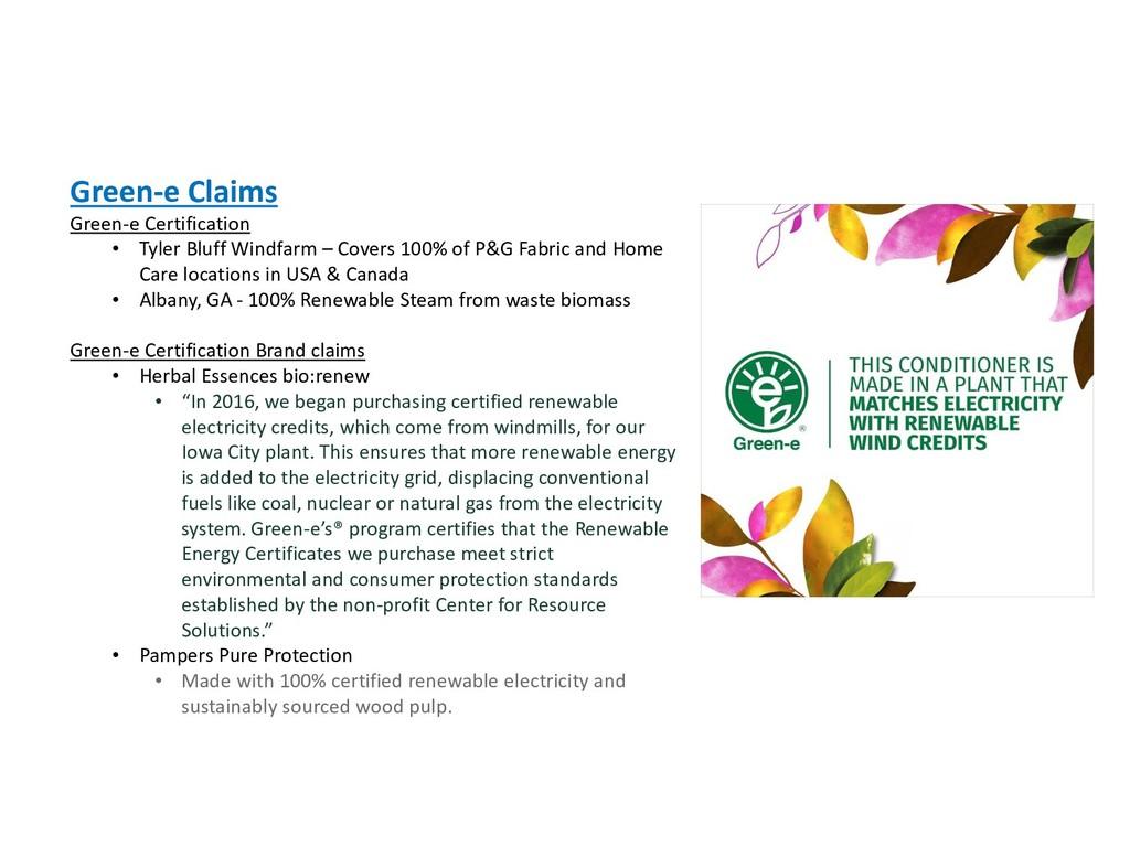 Green-e Claims Green-e Certification • Tyler Bl...