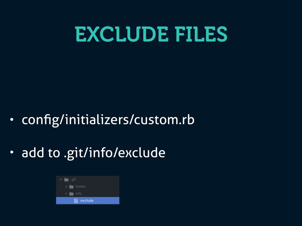 EXCLUDE FILES • config/initializers/custom.rb • ...