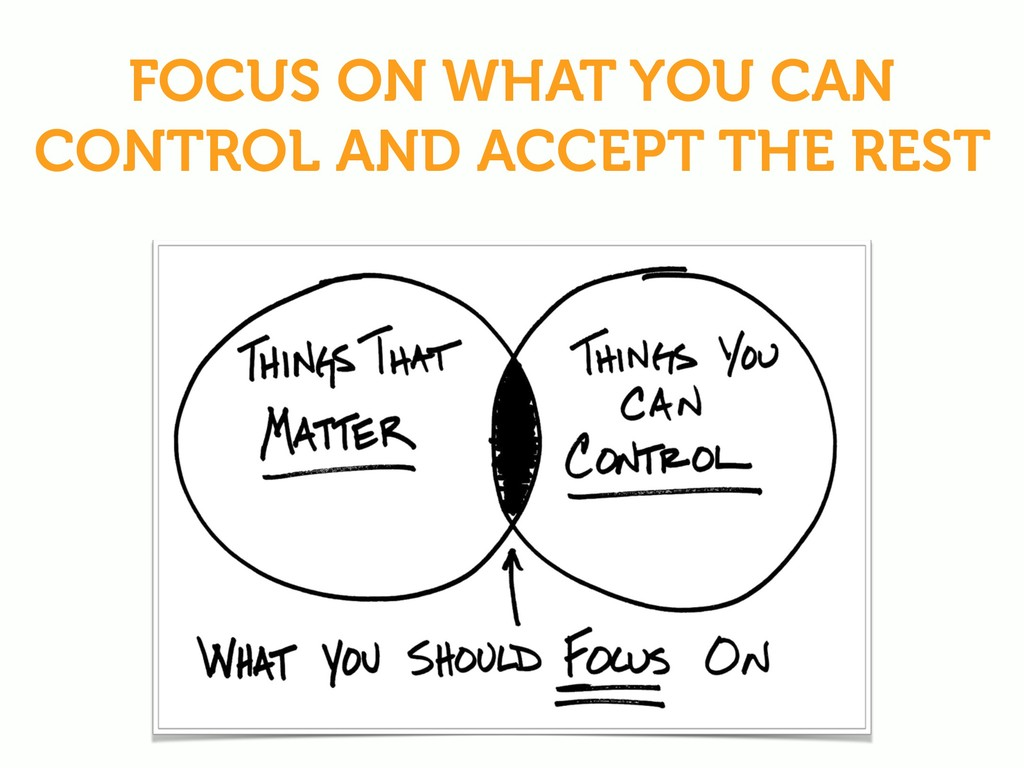 FOCUS ON WHAT YOU CAN CONTROL AND ACCEPT THE RE...