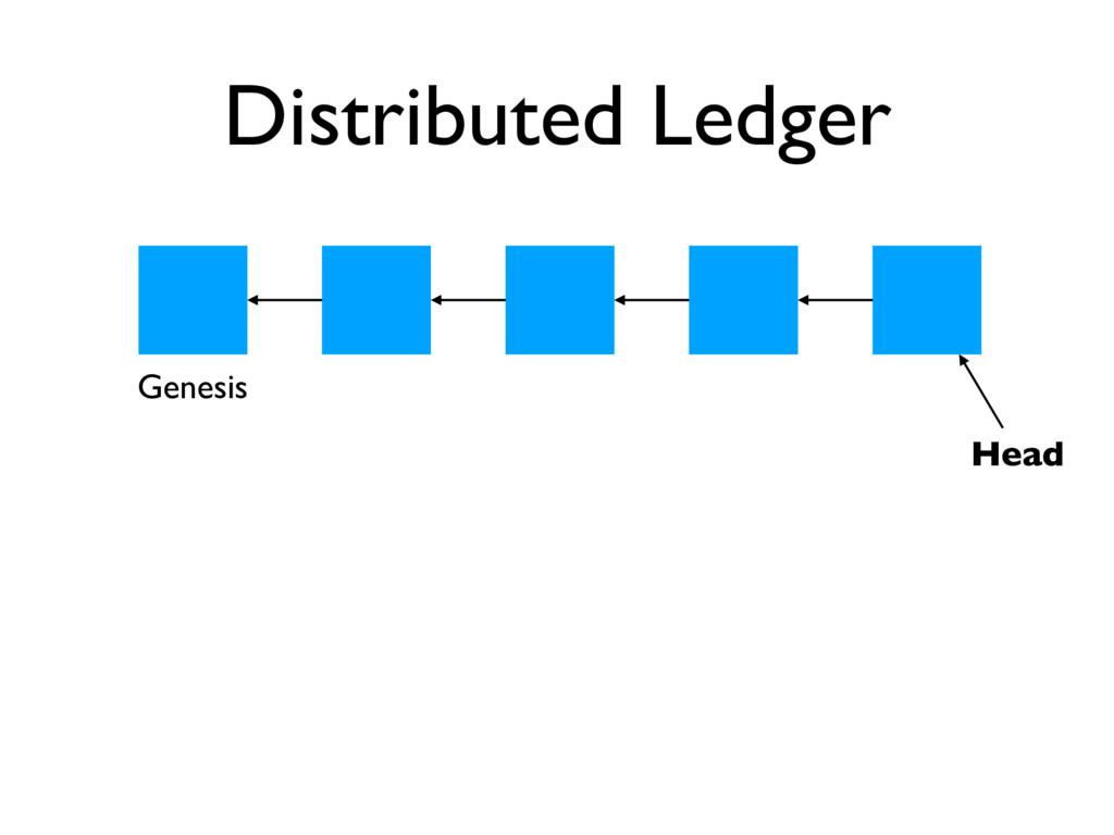 Distributed Ledger Head Genesis