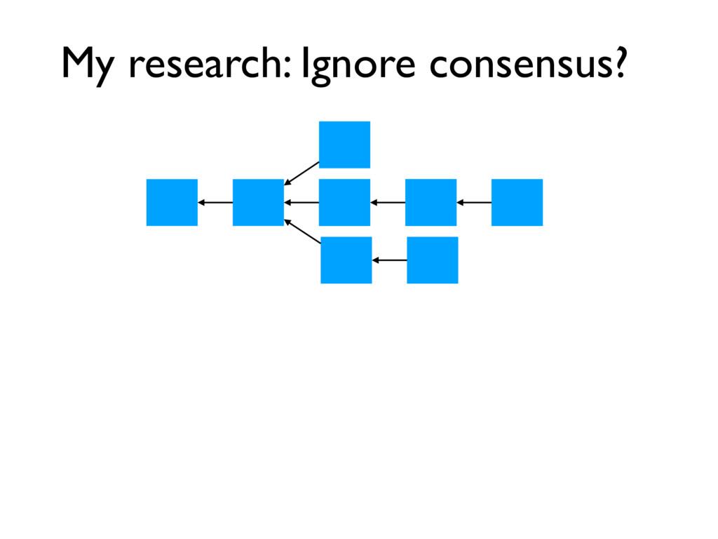 My research: Ignore consensus?