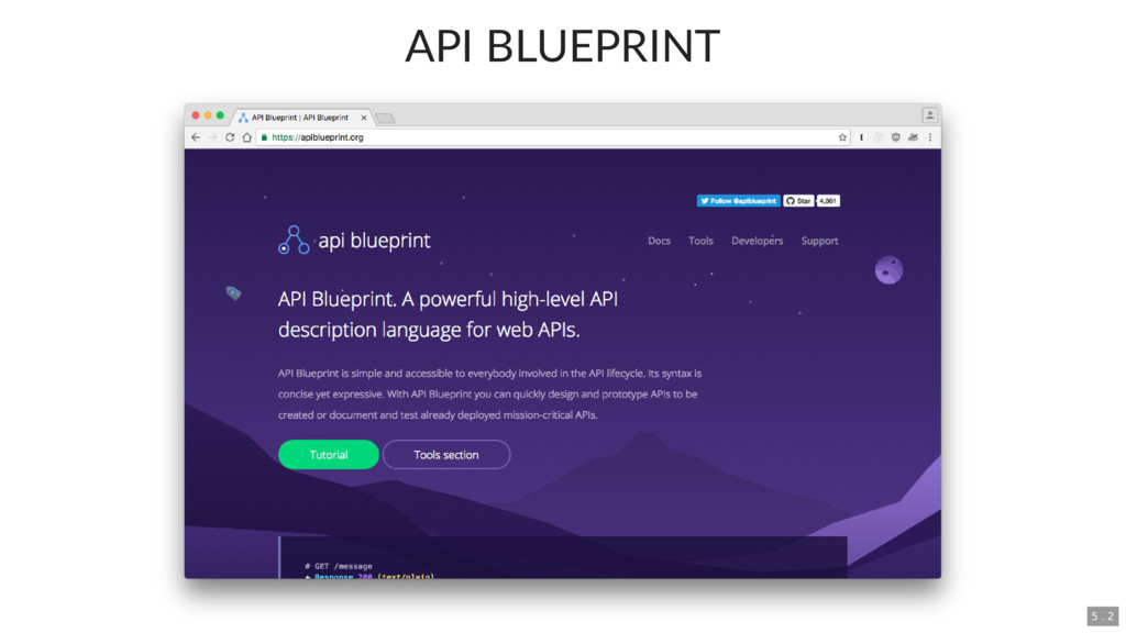 API BLUEPRINT 5 . 2