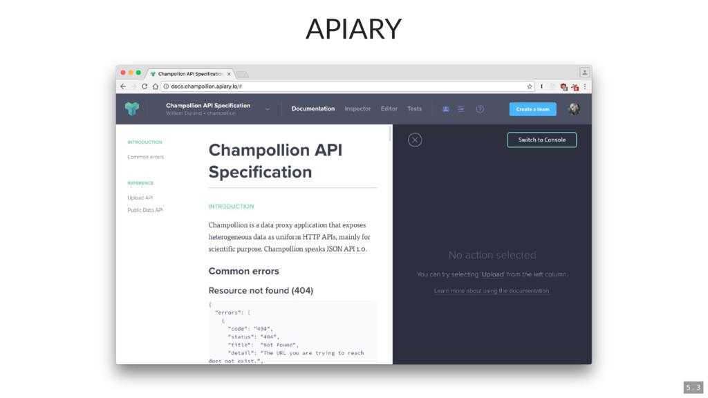 APIARY 5 . 3
