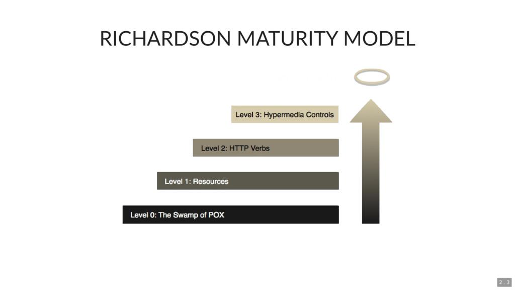 RICHARDSON MATURITY MODEL 2 . 3