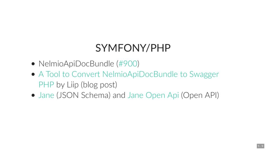 SYMFONY/PHP NelmioApiDocBundle ( ) by Liip (blo...
