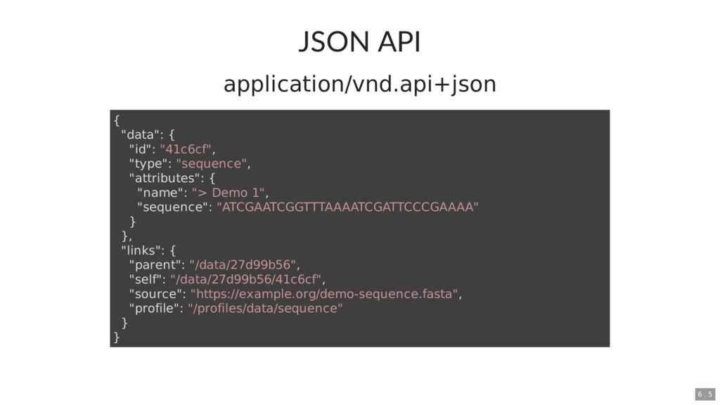"""JSON API application/vnd.api+json { """"data"""": { """"..."""