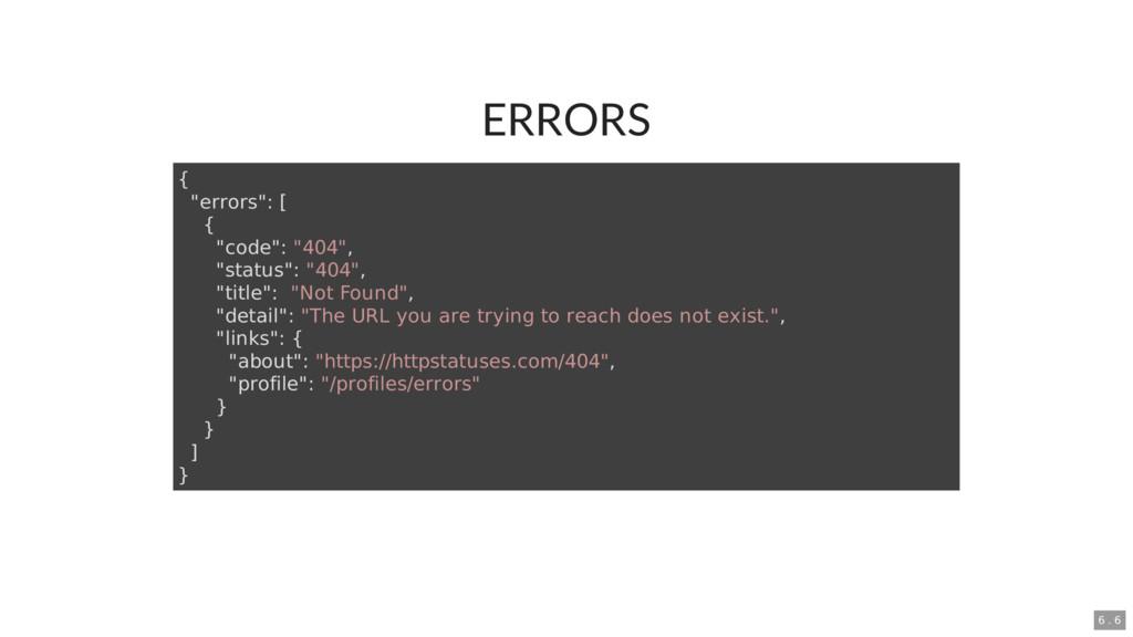 """ERRORS { """"errors"""": [ { """"code"""": """"404"""", """"status"""":..."""