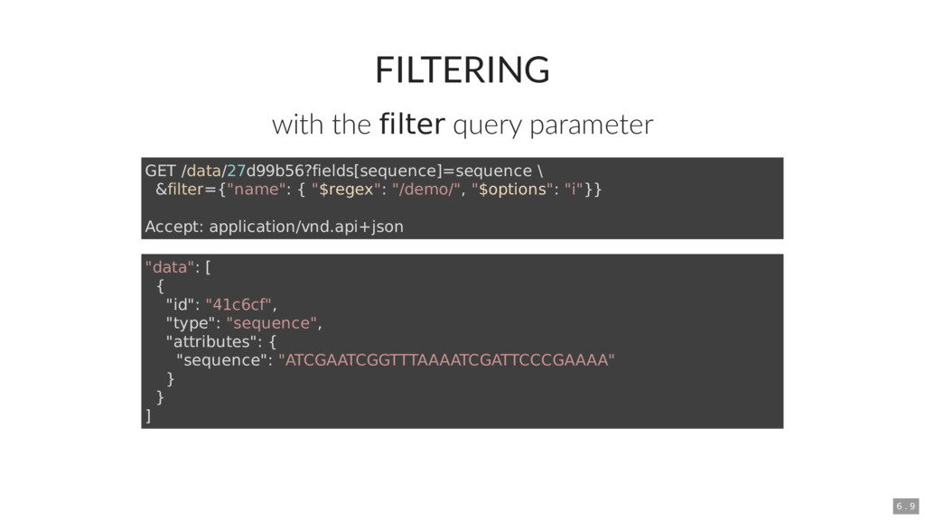 FILTERING with the filter query parameter GET /...