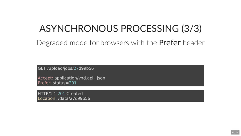 ASYNCHRONOUS PROCESSING (3/3) Degraded mode for...