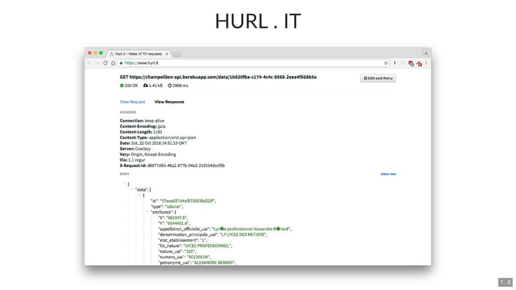 HURL . IT 7 . 8