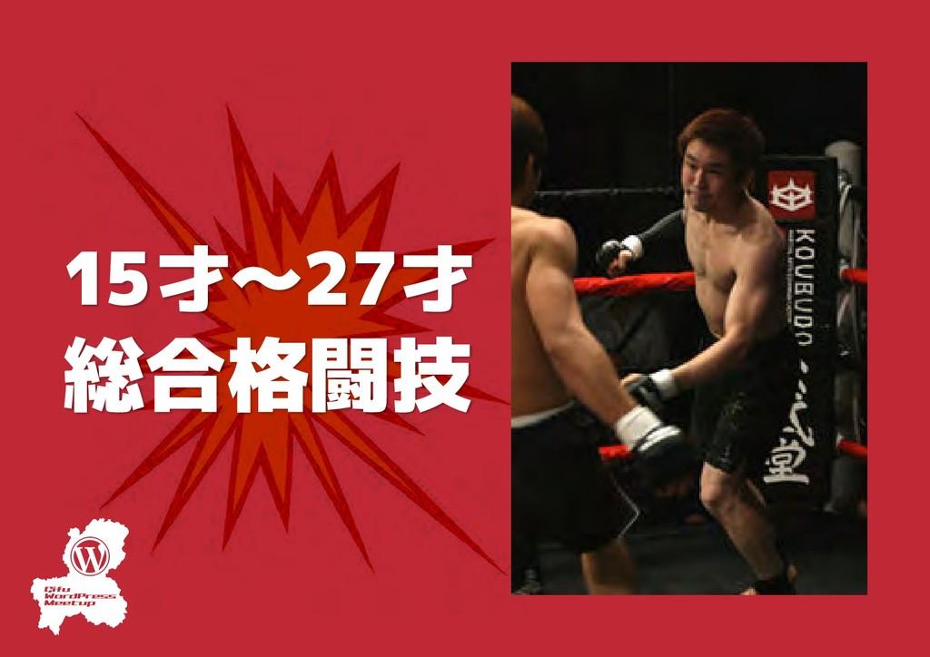 15才〜27才 総合格闘技