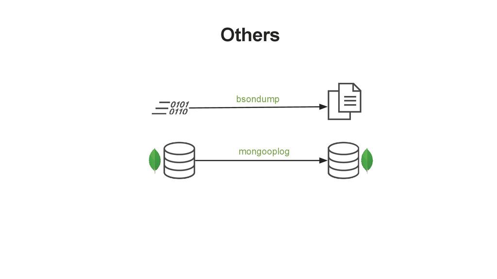 Others bsondump mongooplog