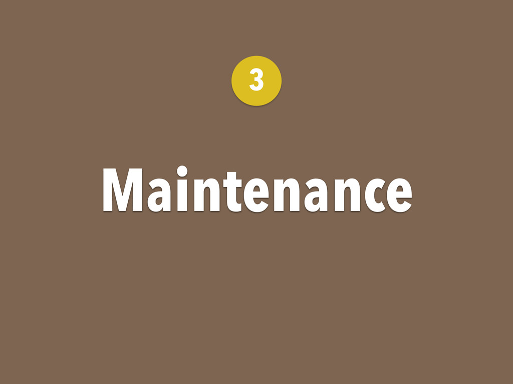 Maintenance 3
