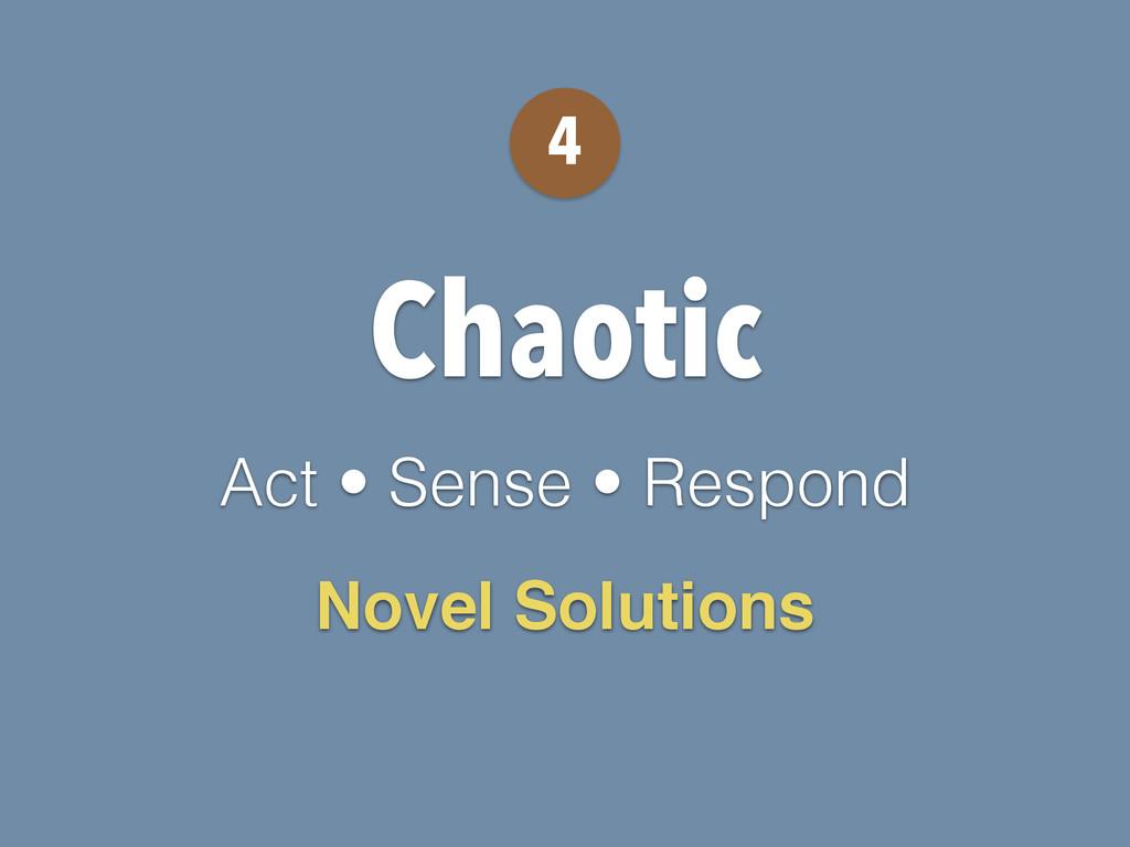 Chaotic Act • Sense • Respond 4 Novel Solutions