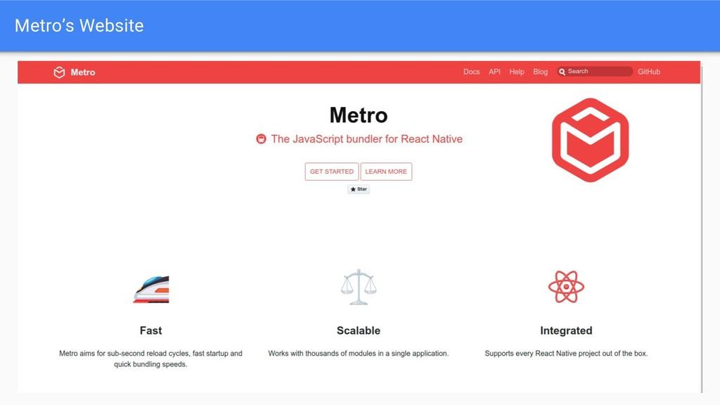 Metro's Website