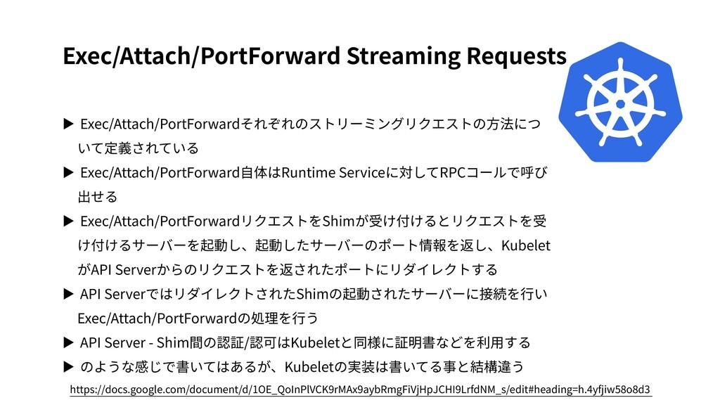 Exec/Attach/PortForward Streaming Requests ▶ Ex...