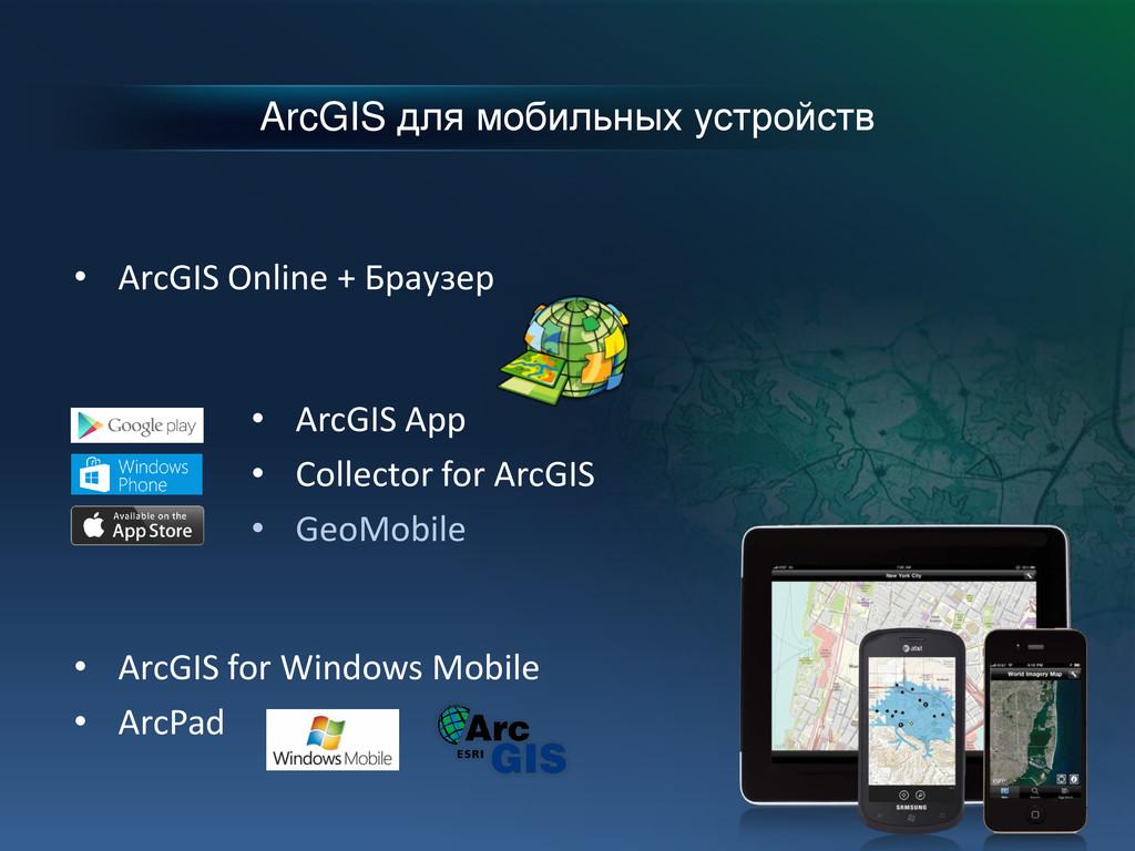 ArcGIS для мобильных устройств • ArcGIS App • C...