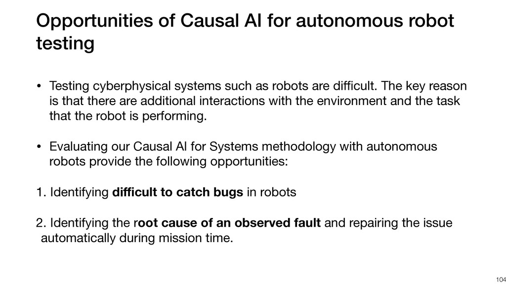 Opportunities of Causal AI for autonomous robot...