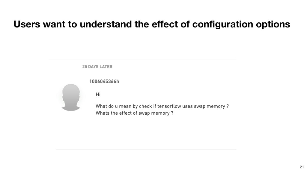 Users want to understand the effect of configur...