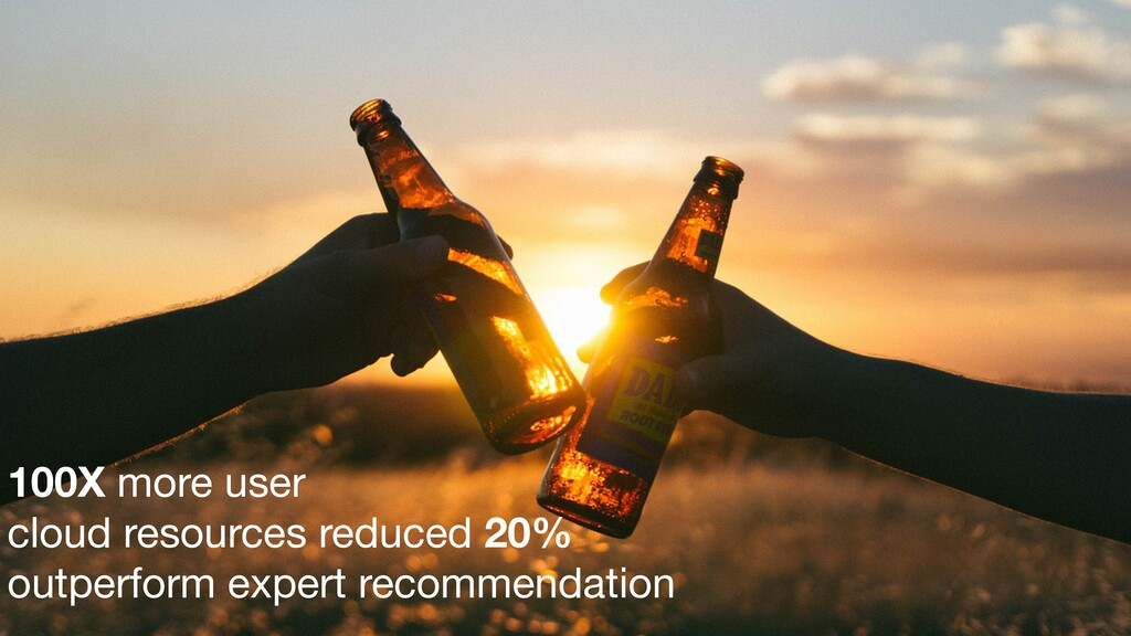 100X more user   cloud resources reduced 20% ou...