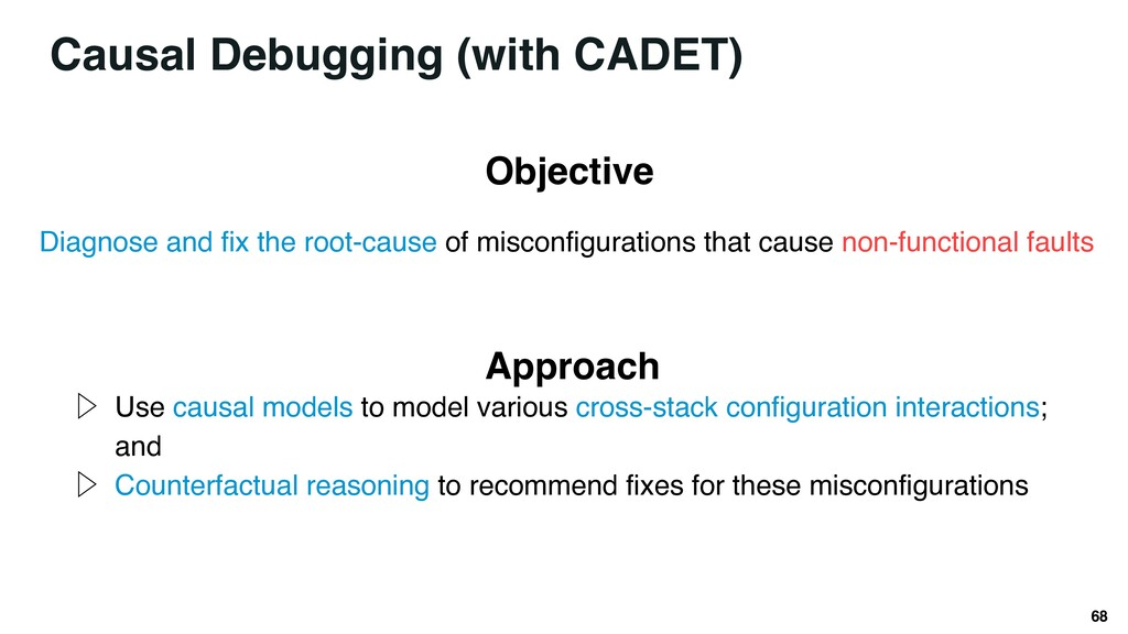 68 Diagnose and fix the root-cause of misconfig...