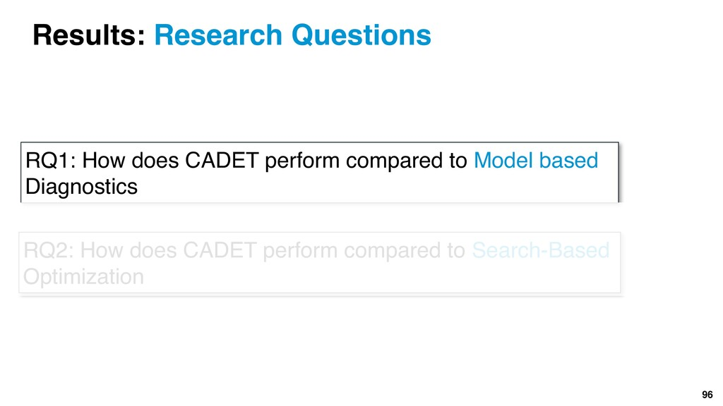 96 RQ1: How does CADET perform compared to Mode...