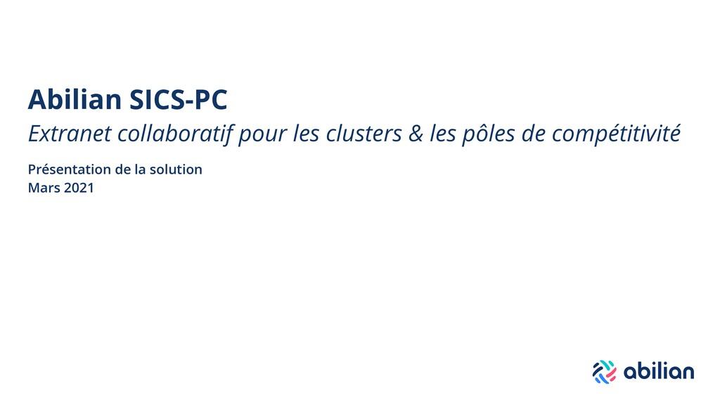 Abilian SICS-PC Extranet collaboratif pour les ...