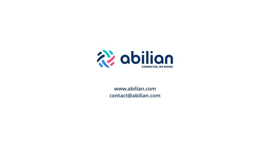 www.abilian.com contact@abilian.com