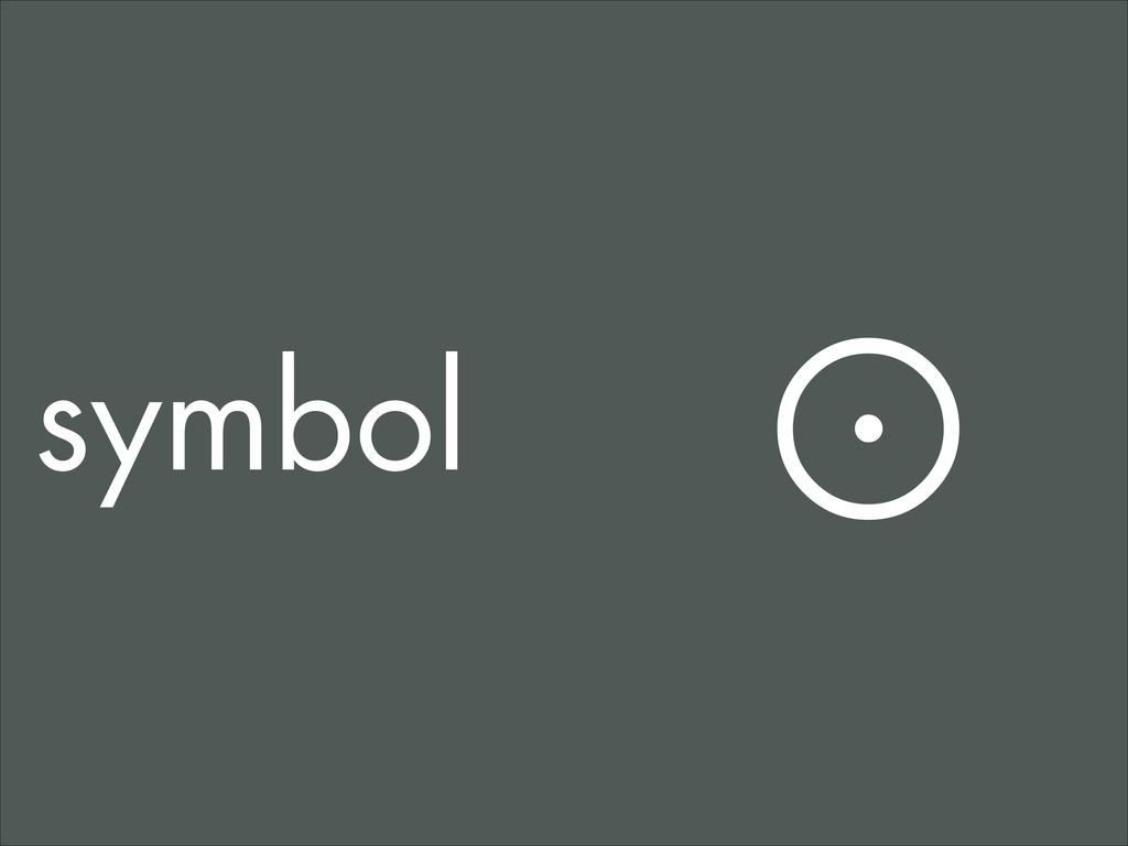 symbol ☉